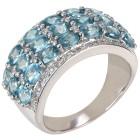 Ring 925 Sterling Silber rhodiniert Zirkon blau 19 - 101787500002 - 1 - 140px