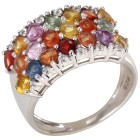 Ring 925 St. Silber rhodiniert Saphir Multicolor   - 101787600000 - 1 - 140px
