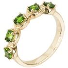 Ring 925 Sterling Silber vergoldet Chromdiopsid 20 - 101793000005 - 1 - 140px