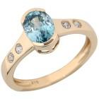 Ring 375 Gelbgold Zirkon blau 17 - 101839700001 - 1 - 140px