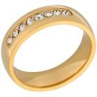 Ring Edelstahl vergoldet Zirkonia 17 - 101862600001 - 1 - 140px