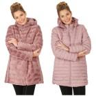 Damen-Wende-Stepp-Mantel Nylon/Webpelz rosé 38/40 (47) - 101916200001 - 1 - 140px