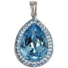 Anhänger 925 St. Silb.,Swarovski® Kristallen, blau - 101986900000 - 1 - 140px