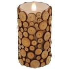 3D-Kerze Holzoptik, 15 cm - 102006000000 - 1 - 140px