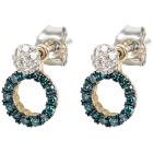 Ohrstecker 585 Gelbgold + Weißgold Diamanten - 102010200000 - 1 - 140px