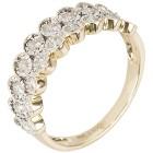 Ring 585 Gelbgold Brillanten, getöntes weiß   - 102011100000 - 1 - 140px