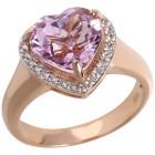 Ring 585 Roségold Kunzit Herz 17 - 102038100001 - 1 - 140px
