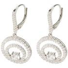 Ohrhänger 925 Sterling Silber Zirkonia, weiß rhodiniert - 102077300001 - 1 - 140px