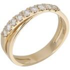 Ring 585 Gelbgold Brillanten lupenrein 18 - 102078300001 - 1 - 140px