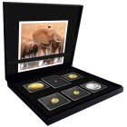 1,85 oz Goldmünzenset Elefant mit 1 ct Brillant - 102083800000 - 1 - 140px