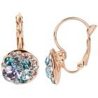 Ohrhänger mit Swarovski® Kristallen Blautöne - 102110600000 - 1 - 140px