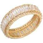 Ring 925 Sterling Silber vergoldet Zirkonia   - 102173200000 - 1 - 140px