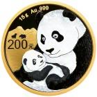 Bull & Bear Panda Gold pur mit Rubin - 102249200000 - 1 - 140px