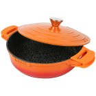 KING Shine Orange Schmorpfanne m. Aludeckel ø28 cm - 102280700000 - 1 - 140px