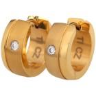 Creolen Titan vergoldet, mit Zirkonia - 102335600000 - 1 - 140px