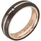Ring Titan rosévergoldet + Carbon mit Diamant   - 102335700000 - 1 - 140px