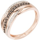 Ring 585 Roségold Chocolate Brillanten 16 - 102396100001 - 1 - 140px