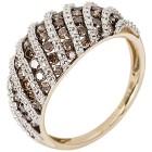 Ring 585 Gelbgold Chocolate Brillanten 21 - 102396400005 - 1 - 140px
