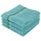 Handtuch 4tlg. Bordüre mit Punkte, grün, 50x100 cm - 102416900000 - 1 - 140px