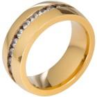 Ring Titan vergoldet Zirkonia   - 102472600000 - 1 - 140px