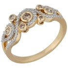 Ring 585 Gelbgold Diamanten ca. 0,45ct.   - 102476400000 - 1 - 140px