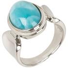 Ring 950 Silber rhodiniert, Larimar, himmelblau   - 102477900000 - 1 - 140px