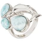 Ring 950 Silber rhodiniert  Larimar, himmelblau   - 102478800000 - 1 - 140px