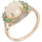 Ring 585 Gelbgold, Äthiopischer Opal, poliert   - 102526400000 - 1 - 140px