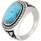 Ring 925 St. Silber Türkis stabilisiert, poliert   - 102634900000 - 1 - 140px