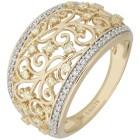 Ring 585 Gelbgold Diamanten gelb natur 18 - 102664600001 - 1 - 140px
