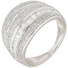Ring 585 Weißgold Diamanten, weiß   - 102667800000 - 1 - 140px
