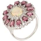 Ring 925 St. Silber rhod. Opal Rhodolith   - 102669000000 - 1 - 140px
