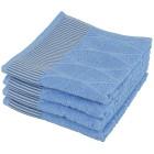 Handtuch 4-teilig, Streifen blau  - 102670200000 - 1 - 140px