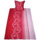 AllSeason Bettwäsche 155x220 cm, Ornament weiß-rot - 102744300000 - 1 - 140px