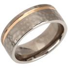 Ring Titan bicolor, gehämmert   - 102770900000 - 1 - 140px