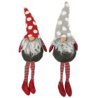 Gnome Kantenhocker grau-rot, 50 cm, 2er-Set - 102782400000 - 1 - 140px