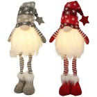 LED Gnome stehend 2er-Set grau-rot 50cm - 102785500000 - 1 - 140px