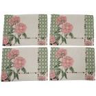 Gobelin-Platzset Blumen, 4-teilig, grün-rosé - 103058600000 - 1 - 140px