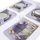 Gobelin-Platzset Lavendel 4tlg. beige-lila - 103059100000 - 1 - 140px