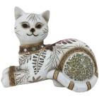 Dekofigur Katze liegend creme-braun - 103093200000 - 1 - 140px