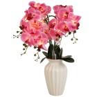 LED-Orchidee rosé in Keramikvase weiß - 103109500000 - 1 - 140px