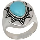 Ring 925 St. Silber Türkis stabilisiert,ca. 2,4 ct   - 103137000000 - 1 - 140px