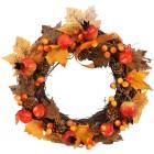 Deko-Herbstkranz Rattan, orange-braun - 103146300000 - 1 - 140px