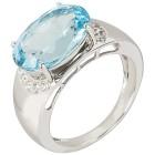 Ring 925 Sterling Silber, Blautopas behandelt   - 103166100000 - 1 - 140px