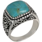 Ring 925 Sterling Silber Türkis, ca. 4,55 ct.   - 103250100000 - 1 - 140px