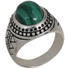 Ring 925 Sterling Silber Malachit   - 103250200000 - 1 - 140px