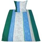 AllSeasons Bettwäsche 155 x 220 cm, grün-blau-grau - 103292700000 - 1 - 140px