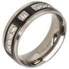 Ring Titan schwarz Zirkonia   - 103311600000 - 1 - 140px