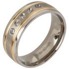 Ring Titan bicolor Zirkonia   - 103311700000 - 1 - 140px
