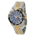 """DELMA Herrenuhr """"Santiago GMT"""" Quarz bicolor blau - 103318400000 - 1 - 140px"""